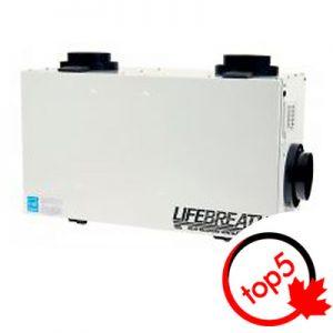 Un échangeur d'air Lifebreath RNC-155 est un choix sensé si la surface de votre demeure varie entre 1 700 pi2 et 2 750pi2.