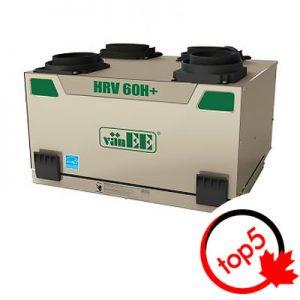 La polyvalence et l'efficacité de l'échangeur d'air vaNEE HRV 60H sont un modèle du développement technologique ultime des VRC.